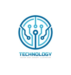 Technology chip - logo vector image