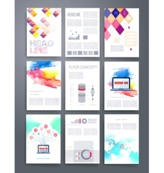 Templates flyer brochure cover for print vector
