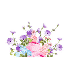 the chicory garland elegant card vector image