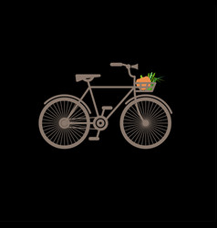 vintage bike flat vector image