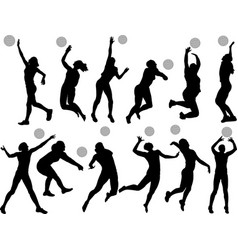 volleyball girls vector image