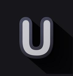Volume icons alphabet u vector
