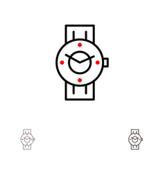 Watch smart watch time phone android bold and vector