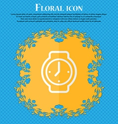 watches Floral flat design on a blue abstract vector image