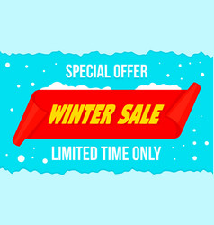 winter big sale concept banner flat style vector image