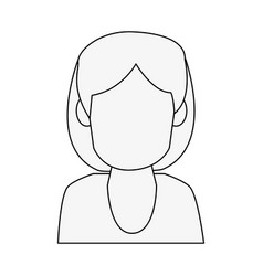woman avatar profile vector image