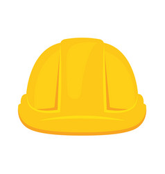 yellow construction helmet isolated icon vector image