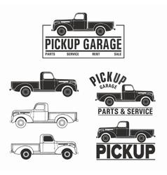 car 4x4 pickup truck off-road logo elements vector image