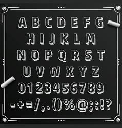 chalkboard sketch font abc sign set letter vector image