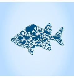 Fish an animal vector image
