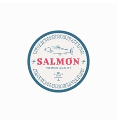 fishing label vector image