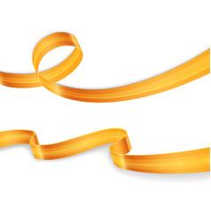 Golden ribbons set image vector image vector image