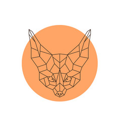 head of fennec geometric head of a wild little vector image vector image