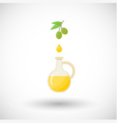 Olive oil flat icon vector