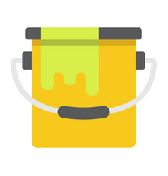 bucket of paint flat icon build and repair vector image vector image