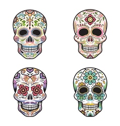 Day of the Dead Skulls vector image