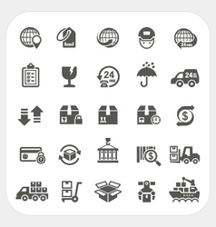 Logistics and Shipping icons set vector image vector image