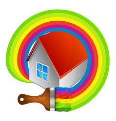 painting a house symbol vector image