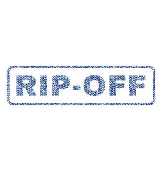 Rip-off textile stamp vector