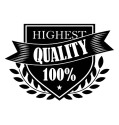 100 Highest Quality label vector image vector image
