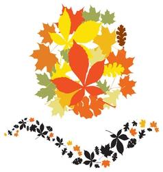 autumn decor elements vector image vector image