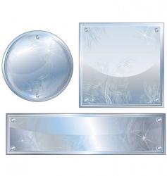 brushed platinum vector image vector image