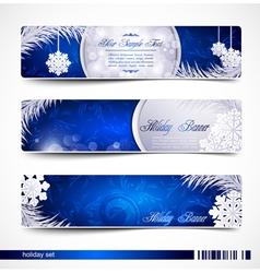 christmas festive banners vector image