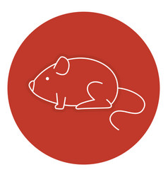 little mouse isolated icon vector image