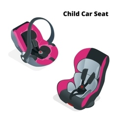 Safety Car seat for baby and kid isolated on vector image vector image