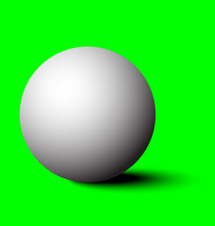 3d white sphere with shadow vector image
