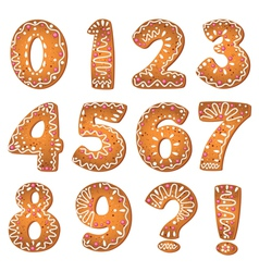 cake numbers and symbols vector image