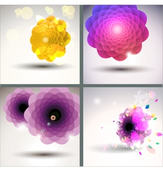 floral single flower collection vector image vector image