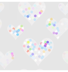 Funny dots on the hearts vector image