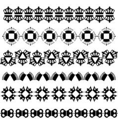 King krowns stroke set vector image vector image
