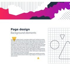 Poster design template geometric shapes gradient vector