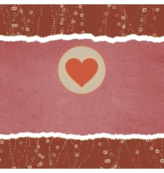 Vintage Valentine Heart card vector image vector image