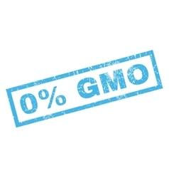 0 Percent GMO Rubber Stamp vector