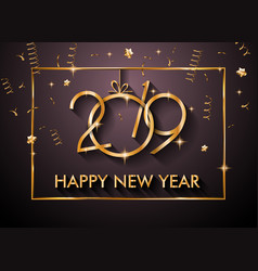 2019 happy new year backgrounds for your seasonal vector