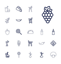 22 eating icons vector