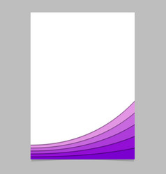 Abstract page template from purple curves vector