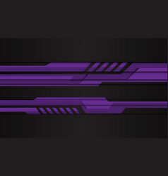 abstract purple cyber polygon on black vector image