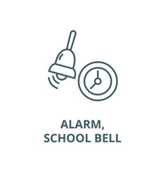 alarmschool bell line icon alarmschool vector image