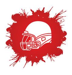 American football helmet graphic vector