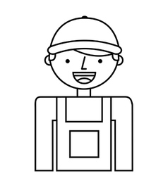 Builder man worker icon vector