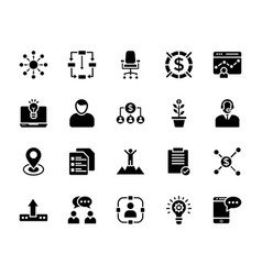 Business services icons vector