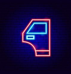 Car door neon sign vector