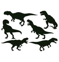 Cartoon jurassic predator tyrannosaurus rex vector
