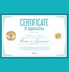 Certificate retro design template 7 vector