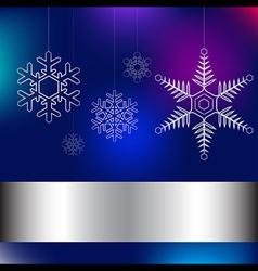 Christmas card blue vector image