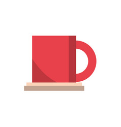 coffee cup office work business equipment icon vector image